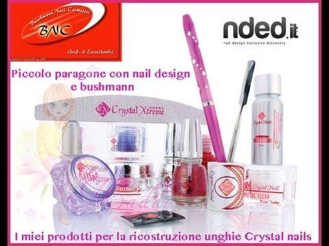 Prodotti Crystal Nails e paragone con Nail Design/bushmann    Madda.fashion