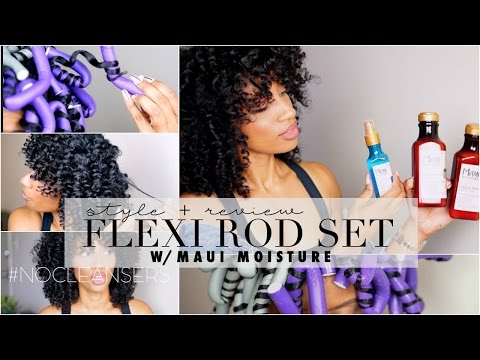 Flexi Rod Set w/ Maui Moisture on Natural Hair : Tutorial + Product Review