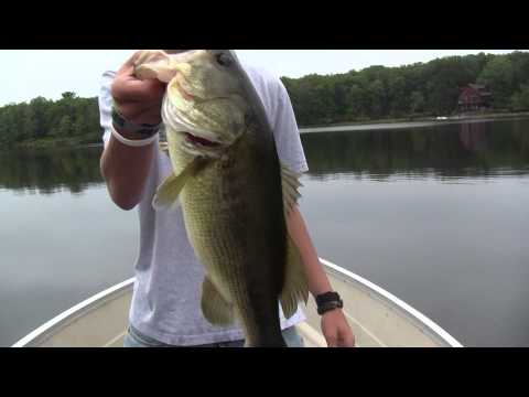 PA Fishing 6 lb Largemouth Bass on Red Eyed Shad