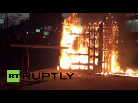 Egypt: Cairo lit up by flames of protest