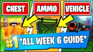 Fortnite WEEK 6 CHALLENGES GUIDE *EASY* - SEARCH CHESTS AT A HOT SPOT, DEAL DAMAGE TO A VEHICLE