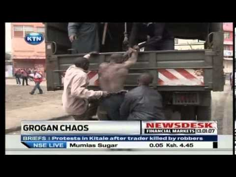 Police clash with mechanics at Grogan, Nairobi