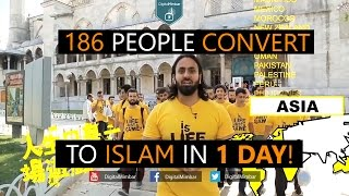 186 people Convert to ISLAM in 1 DAY!