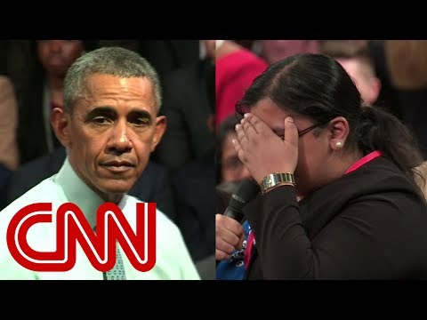Emotional student comes out to Obama