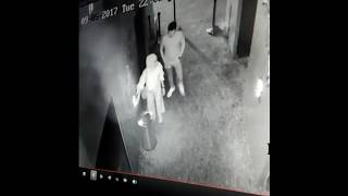CCTV camera sexy kiss caught