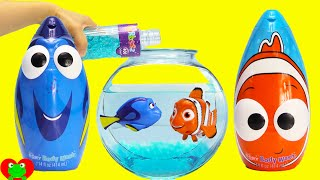 Finding Dory, Nemo, and Squirt Swimmers in Orbeez with Mashems Surprises