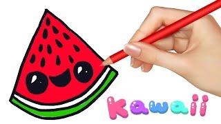 Kawaii Food - How to Draw Food - Watermelon Slice