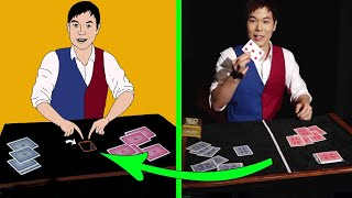 Revealed tricks of the magician Eric Shin