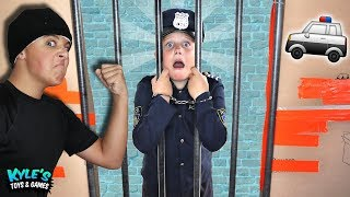 🚓KID COP VS ROBBERS Escape Abandoned BOX FORT Prison!  from Kyle's Toys \u0026 Games