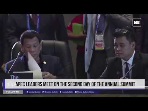 APEC leaders meet on the second day of the annual summit