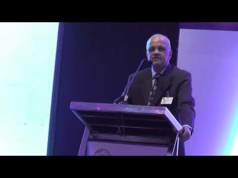 Mr. R. Chandrashekhar addressing the dignitaries in Opportunity Chhattisgarh 2015(Part2/2)