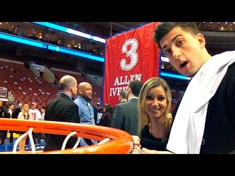 SNUCK ON NBA COURT!