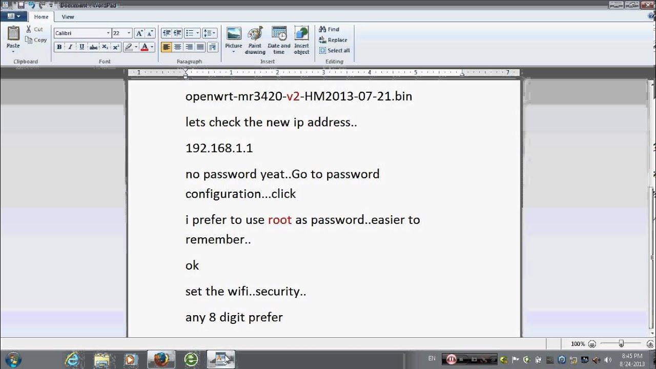Tl-mr3420 open wrt firmware - b