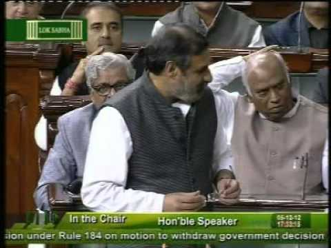 Anand Sharma Replied  in Lok Sabha on FDI in Multi Brand Retail : Dec 5, 2012