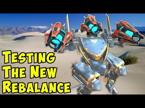 Gameplay Test of the New Rebalance - War Robots Test Server WR