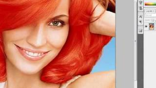 How to change hair colour in Photoshop CS3