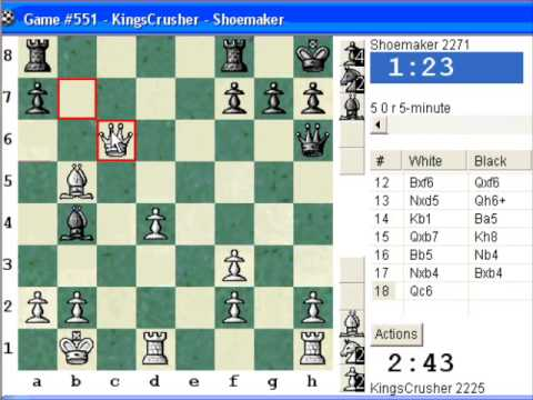 Chessworld.net : Blitz #240 vs. Shoemaker (2271) - Caro-Kann: Panov-Botvinnik attack (B13)