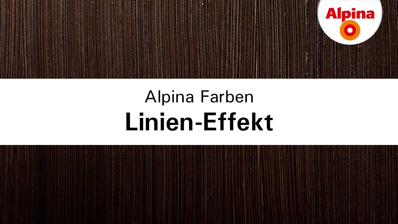 alpina linien effekt youtube. Black Bedroom Furniture Sets. Home Design Ideas