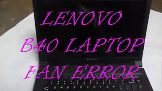 LENOVO LAPTOP FAN ERROR