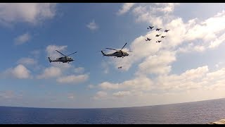 Carrier Life - Helicopter and Air Wing Flyover