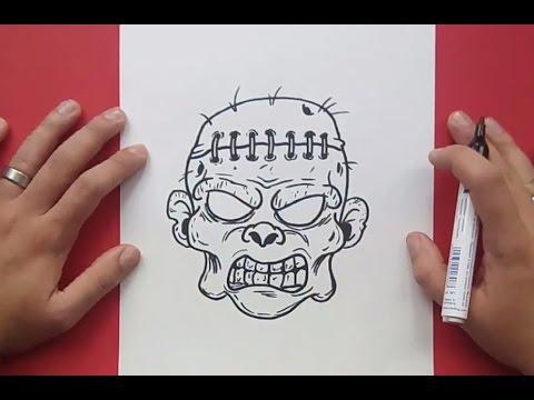 Como dibujar un zombie paso a paso 5 | How to draw a zombie 5