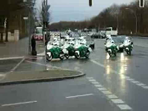 46 Vehicle convoy for His Highness Sheikh Mohammed bin Rashid Al Maktoum through Berlin