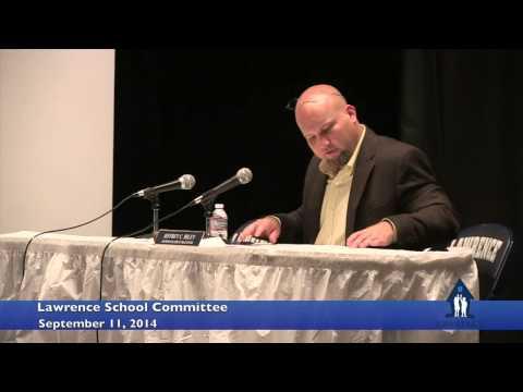 Lawrence School Committee September 11, 2014