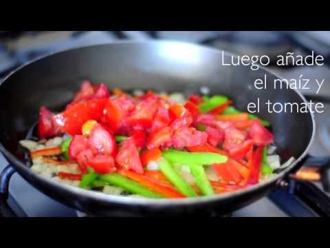 Cómo hacer fajitas vegetarianas : Recetas saludables