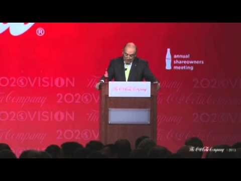Ray Rogers Questioning Coke CEO Muhtar Kent About Tax Evasion in Mexico and Racial Disc