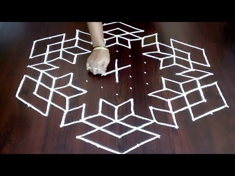 Rangoli Design 13 x 7  ||  Beautiful Creative Easy Muggulu || Festival Kolam  || Fashion World