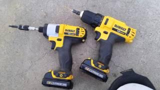 12 volt Dewalt drill and driver test