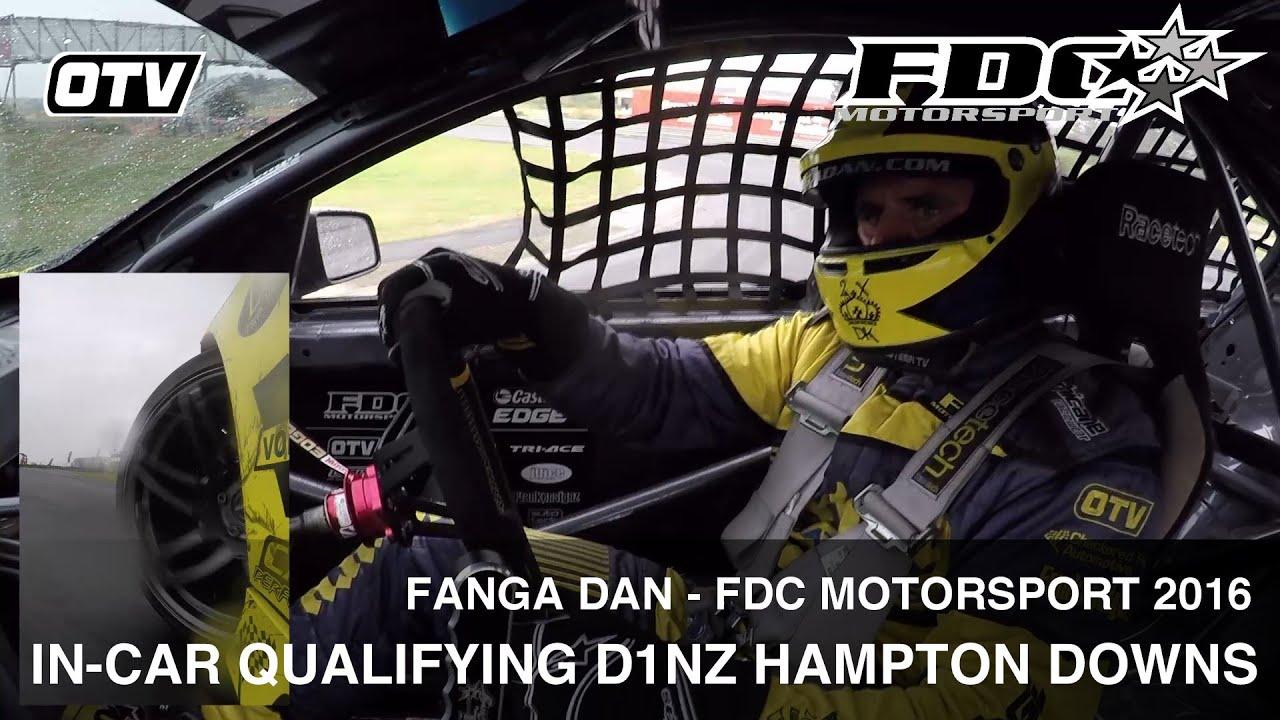 Fanga Dan: In-Car Qualifying D1NZ Drifting Hampton Downs 2016