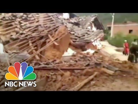 RAW: Deadly Earthquake Rattles China | NBC News