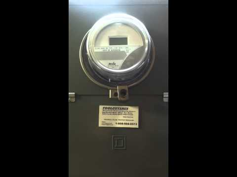 how to open lock on electric meter