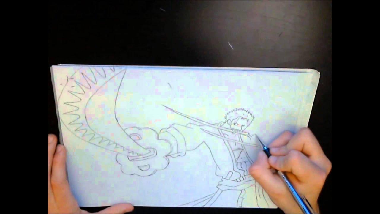 Comment dessiner zoro etape par etape - Coloriage one piece 2 ans plus tard ...