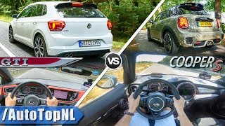 VW Polo GTI 2019 vs 2019 MINI Cooper S | ACCELERATION TOP SPEED & AUTOBAHN POV by AutoTopNL