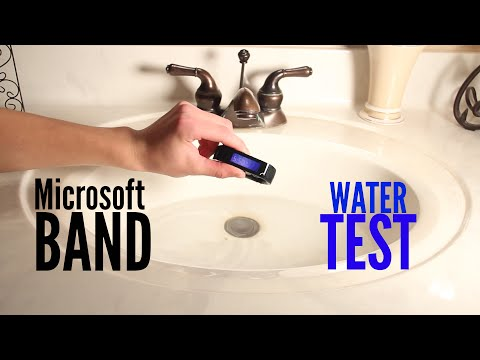 Microsoft Band Water Test - Is it Water Resistant?