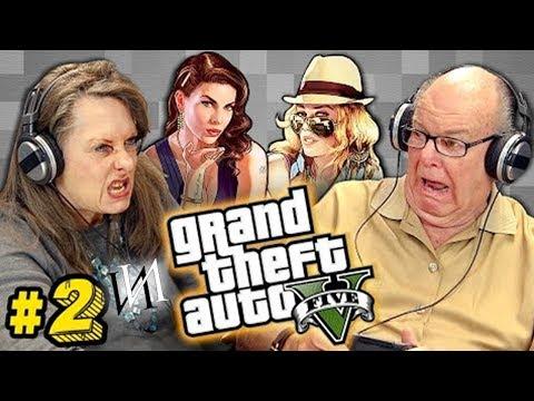 Реакция стариков на GTA V #2   Пенсионеры Иностранцы  - геймеры играют в игру ГТА 5 [ИндивИдуалист]