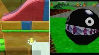 Super Mario 64 vs Super Mario 64 DS Comparison | N64 vs Nintendo DS | Head to Head Comparison