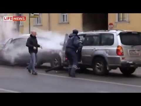 Обезумевший водитель на Садовом кольце разбил 20 машин!