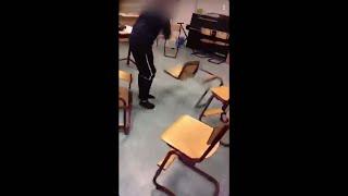 Nya snapchatfenomenet - elever som slår sönder klassrum - Nyheterna (TV4)
