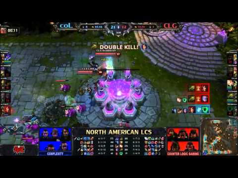 coL vs CLG - CLGs Nexus Survives with 60 hp I LCS NA League of Legends