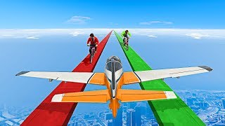 EXTREME BMX vs. PLANES CHALLENGE! - GTA 5 Funny Moments