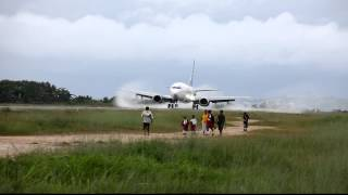 Batavia Air PK-YTY Landing at Domine Eduard Osok Airport in Sorong