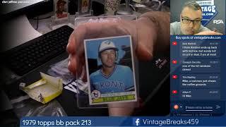 01-18-2019 1979 Topps Baseball Wax Pack 213 Break Opening Video