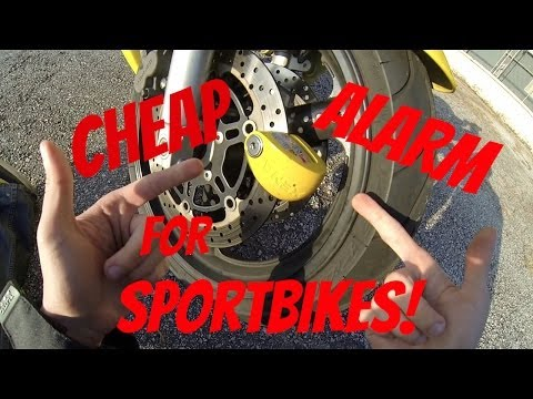 Cheapest Security Alarm for Sportbikes (Xena Disc Lock Review)