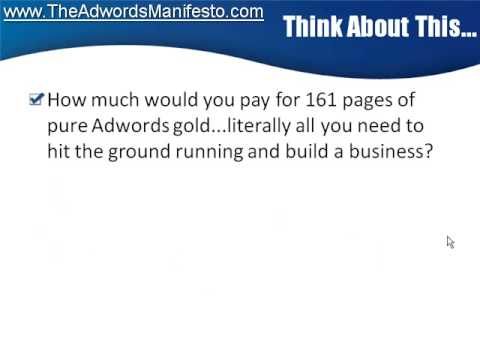 http://www.TheAdwordsManifesto.com - Video 6 - Learn Adwords Money - How to make money with adwords