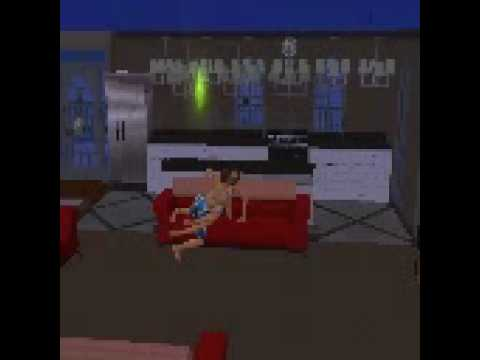 Two Sims Making Out