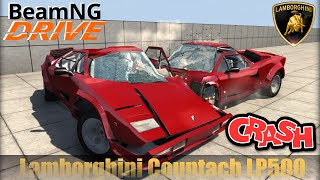BeamNG DRIVE crash test mod car Lamborghini Countach LP500