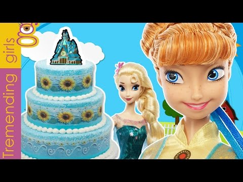 Muñecas Frozen fever dolls cumpleaños plastilina Anna Playdoh birthday party Elsa princesas Disney